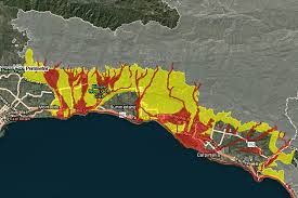 santa barbara county changes evacuation procedures for future  a new interactive map shows santa barbara county areas at risk of debris flows in future
