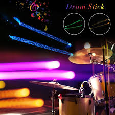 Light Up Drum Us 6 4 30 Off Acrylic Drumstick Bright Led Light Up Drumsticks Percussion Instrument Accessories Luminous For Drum Stick In Parts Accessories From