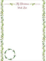Santa List Template Free Letter To Santa Template