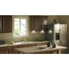 allen roth bristow 36 in w 3 light mission bronze standard kitchen island light with clear shade lowe s canada
