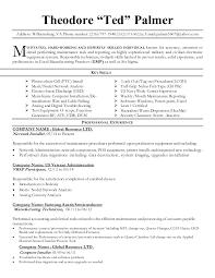 Intel Manufacturing Technician Resume