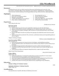 Police Officer Resume Examples Loss Prevention Cover Letter Police Officer Example Free Resume 100