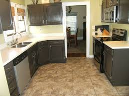 Kitchen Marble Floor Painted Kitchen Cabinets With Dark Wood Floors Quicuacom