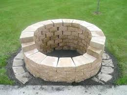 how to build an outdoor stone fire pit building an outdoor fire pit with stones fresh