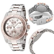 chronograph watches 75 99 for invicta men s watch pro diver silver 18 karat rose gold stainless steel band rose dial invicta 1775 695 list price
