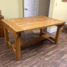 rough sawn white oak trestle dining