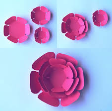 Flower Templates For Paper Flowers Paper Flowers Classroom Craft Activity Easy Make Paper