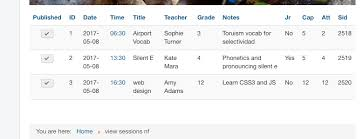 component - custom table display - help turning static html to ...