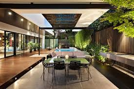view in gallery indoor outdoor house design with alfresco terrace living