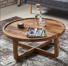 solid wood round coffee table amc