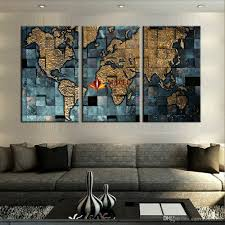 large canvas prints modern wall art the abstract world map