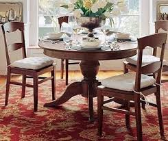 solid wood round extending dining table