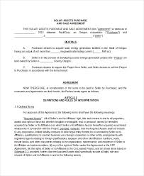 purchase agreement sample asset purchase agreement 7 free word pdf documents download