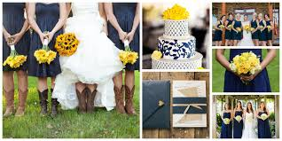 navy blue primary yellow wedding colors