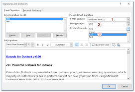 How To Assign Auto Signature To Every Email In Outlook