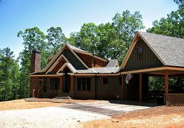 Smoky Mountain Cottage   Crafstman Rustic Cottage House Plan    rustic craftsman lake house plan smoky mountain cottage