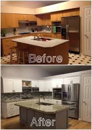 unique kitchen furniture. Fine Kitchen KITCHEN REMODEL Before And After Of Our Kitchen New Hardwood Flooring  Granite Backsplash Paint I Love The Outcome For Unique Kitchen Furniture