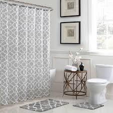 bath fusion elsa geometric 18 in x 30 in bath rug and 72 in