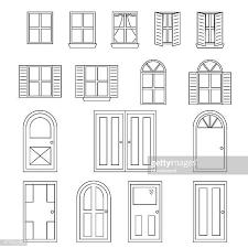 60点の窓のイラスト素材クリップアート素材マンガ素材アイコン素材