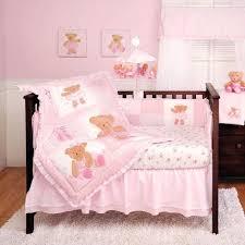 teddy bear crib bedding set kids line twirling around ballerina bear pink baby girl crib bedding