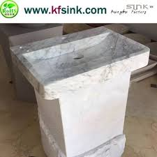 Marble pedestal sink Black Marble Bianco Carrara Pedestal Sink Decora Loft Carrara Marble Pedestal Sink