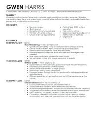 Serving Resume Example Banquet Server Resume Sample Majestic Looking ...