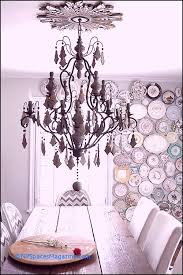 french country cau home decor iron chandelier with wood beads painted crystals and 8 lights