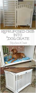 How clever is this repurposed crib turned into a dog crate from My Love 2  Create
