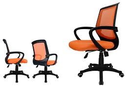 office chair computer chair orange mesh back