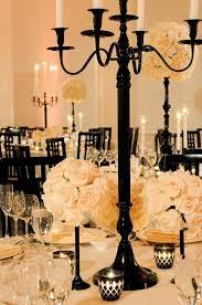adding a touch of black for a pop at a champagne/gold wedding.  Preston/Porterfield wedding | Decoracion bodas, Mesas de boda, Bodas y  eventos