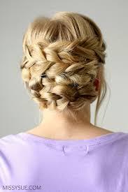 Braided Updo Hairstyles 22 Wonderful Braided Updo For Shorter Hair