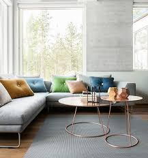 sofa trend furniture. coffee table_living room trends_emily_henderson_clustered coffee table sofa trend furniture i