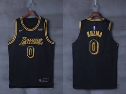 Nba Authentic Jersey Size Chart New Arrival 2018 Lakers Clothing 0 Kyle Kuzma Black City