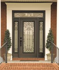 Decorative Door Designs Belle Meade decorative door glass Swirls of wrought iron give your 48