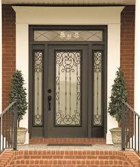 Decorative Door Designs Belle Meade decorative door glass Swirls of wrought iron give your 48