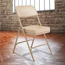 latest national public seating beige steel folding chair with beige vinyl padded back and seat with vinylboden beige bluegrass barnwood luxury vinyl tile