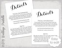 Wedding Enclosure Card Template Wedding Details Enclosure Template Diy Calligraphy Etsy