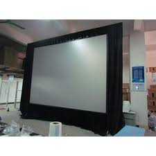 china factory direct outdoor movable fold projector screen floor stand hd screens