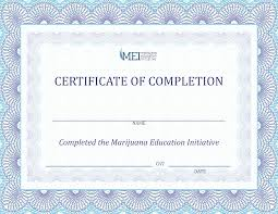 Certificate Of Completeion Certificate Of Completion Mei