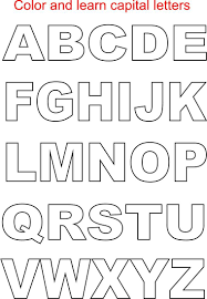 Capital Letters Coloring Printable Page For Kids Alphabets Coloring