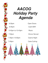 Party Agenda Templates Holiday Party Agenda Pdf Sample Templates At