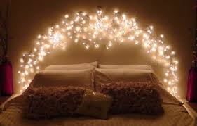 lighting for home decoration. Bedroom Lighting Ideas For Better Sleep : Beautiful Fairy Lights Headboard Home Decoration