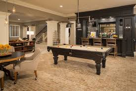 4 tags Traditional Game Room with High ceiling, Columns, Minnesota Fats  Covington 7.5' Billiard Table