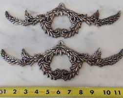 appliques for furniture. pair of ornate furniture appliques embellishments door for
