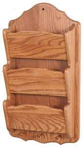 amish made wall mount mail organizer