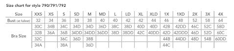 34dd Size Chart Wear Ease Compression Bra