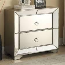 hollywood regency mirrored furniture. set 2 glam mirrored furniture bedroom chest nightstands hollywood regency tables
