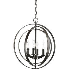 white foyer pendant lighting candle. Progress Lighting Equinox 4-Light Antique Bronze Orb Pendant White Foyer Candle