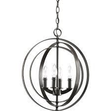 progress lighting equinox 4 light antique bronze orb pendant
