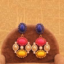 candy pearl stone chandelier earring uberdiva com